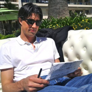 Working hard at the Cannes Film Festival