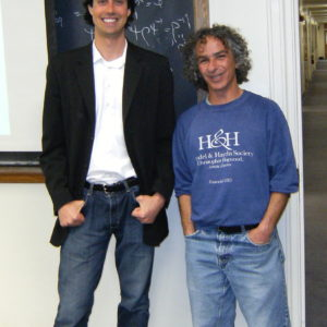 With Ronen Plesser, undergraduate advisor.