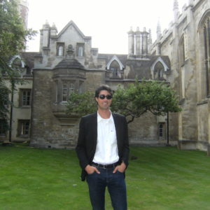 In front of Newton's room at Cambridge