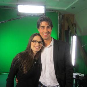 Filming Talk Nerdy to Me with Cara Santa Maria