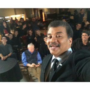 I photobomb Neil deGrasse Tyson's selfie at StarTalk